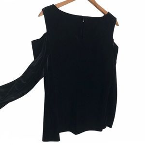 Alex Evenings velour cold shoulder top